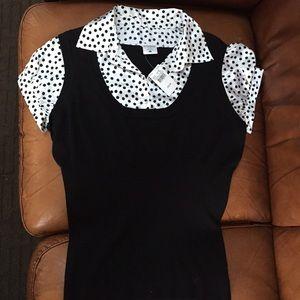 Motherhood maternity polka dot shirt size large
