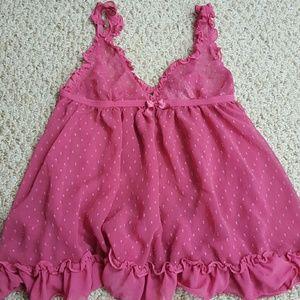 Ruffled Pink Babydoll