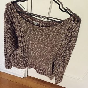 Ecote Brown Crocheted Sweater
