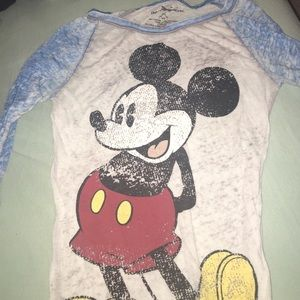 Mickey Mouse baseball tee