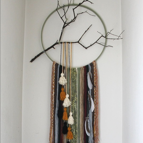 Boho Wall Hanging free people - handmade one of a kind boho yarn wall hanging from