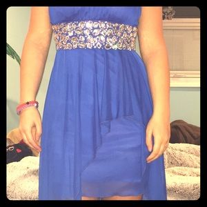 Royal blue high low