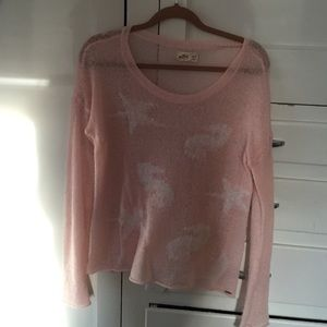 light pink sweater