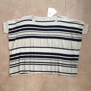 Beautiful striped knitted top. One size fits all