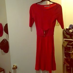Karen Millen red belted dress
