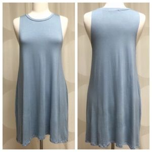 Dusty blue dress, nice weight and so comfy!