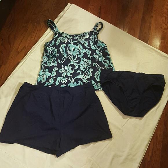 d419dd8be6155 Lands' End Swim | Lands End Womens Beach Living 3 Pc Suit | Poshmark