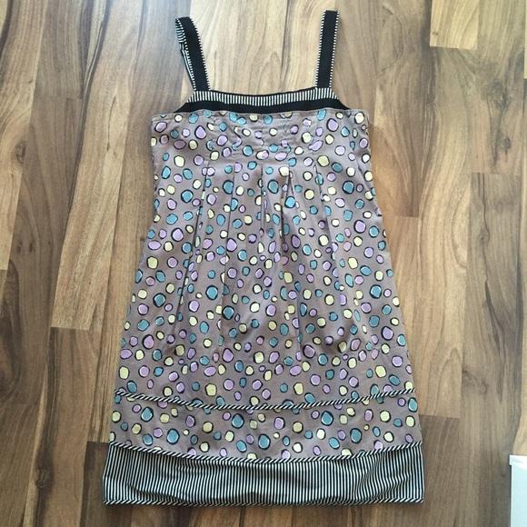 BCBGMaxAzria Dresses & Skirts - BCBG colorful polkadot dress