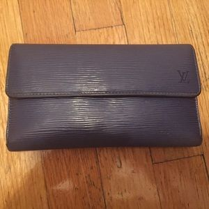 Louis Vuitton blue epi wallet