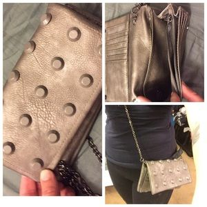 Not Sure Handbags - STUDDED WALLET, GREY ISH, BRAND NEW WITHOUT TAGS