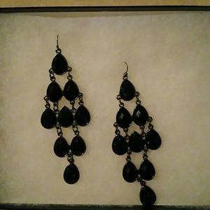Jewelry - MIDNIGHT CRYSTAL CHANDELIER EARRINGS