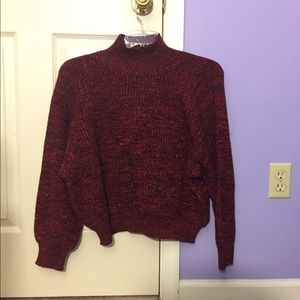 Red sparkle vintage sweater