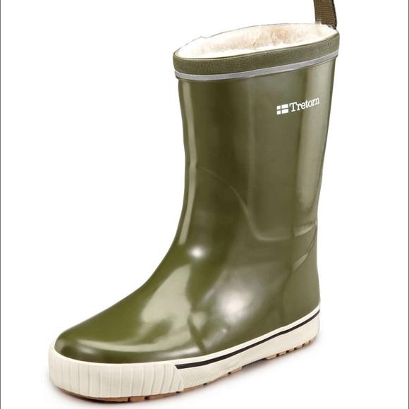 68% off Tretron Shoes - Tretorn olive rain boots with faux fur ...