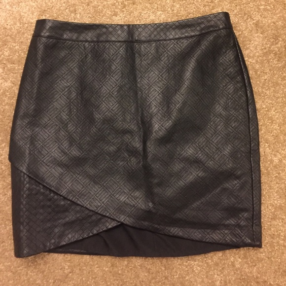 79 mossimo supply co dresses skirts leather skirt