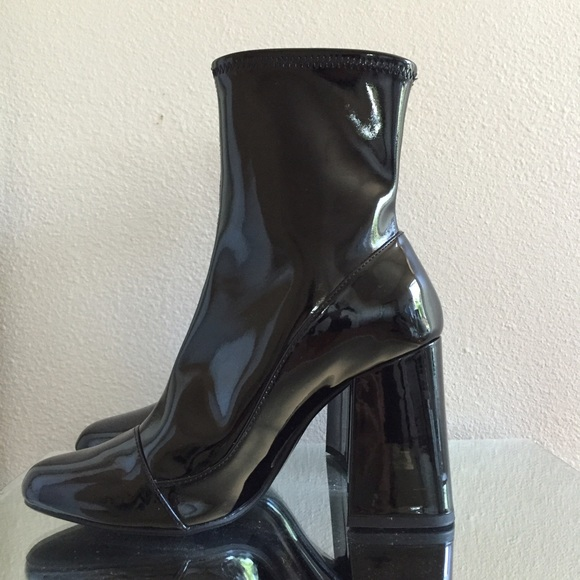 hot product popular stores best price Zara Shoes | Patent Leather Sock Boots Size 636 | Poshmark