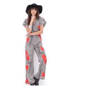 Tribal Print Jumpsuit