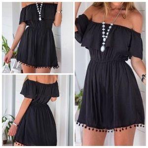 SALEOff the shoulder black dress