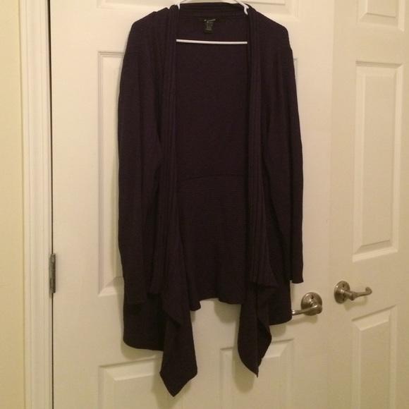 8ed18628917 89th   Madison Sweaters - Plus Size 2x Purple shark bite Cardigan open front