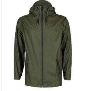 Rains  Jackets & Blazers - RAINS OFFICIAL hunter green rain jacket NWT