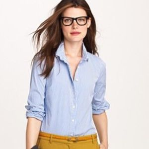 {J. Crew} perfect shirt classic button down size 2