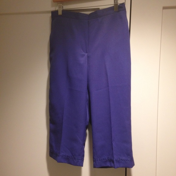 purple capri pants - Pi Pants