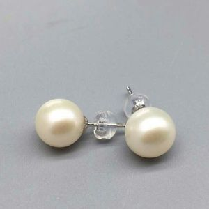 9mm 18K gold freshwater Pearl stud earrings