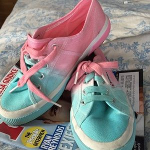 Superga Shoes - Superga sneakers, size 7.5 cotton candy blue/pink