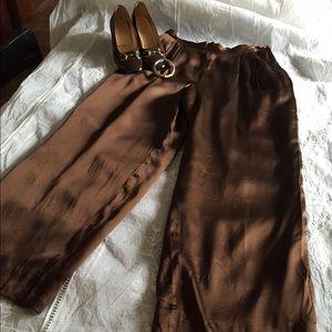 Gucci silk slacks