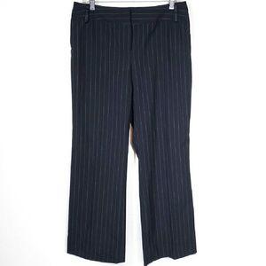 INC International Concepts Pants - Navy blue pinstripe petite dress trousers