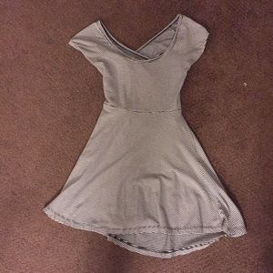 stripped Brandy Melville dress w/ cut in back