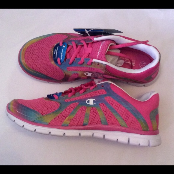 d28e0ae6059 Champion Juniors Sneakers Pink Rainbow Size 5.5