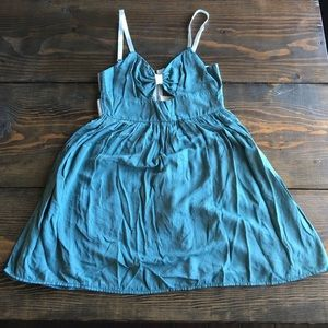 Mint dress with caged back
