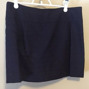 J Crew navy textured mini