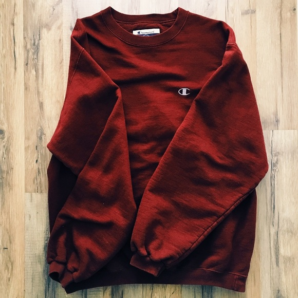 63% off Champion Sweaters - Vintage Champion Burgundy Sweater from ...