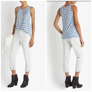 J Brand Denim - J Brand Blue Aubry Relaxed Faded Crop Denim Jeans