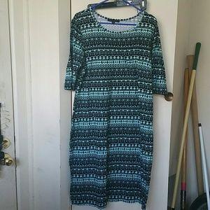 Dresses & Skirts - Lt. Teal Fun print bodycon dress