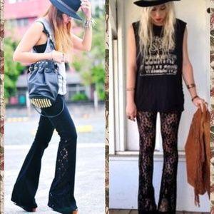 Atid Clothing Pants - 🌟LAST PAIR!🌟Black Lace Boho Flares!