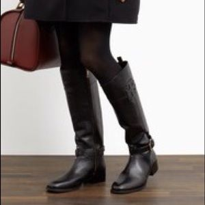 SOLD* TORY BURCH Blk BLAIRE Riding Boots, Sz 6M