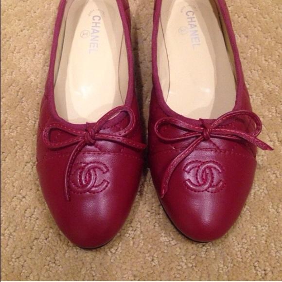 17ebd3464920e CHANEL Shoes | Burgundy Quilted Ballet Flat | Poshmark