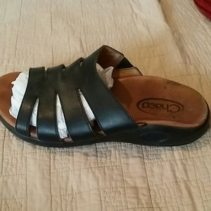 chaco Shoes - Chaco Black Leather Sandals