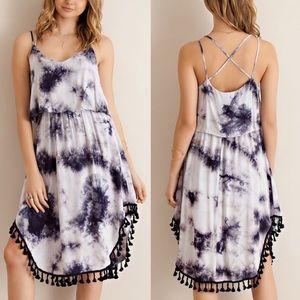 Bellanblue Dresses & Skirts - 🆕JANESSA tie dye midi dress - NAVY