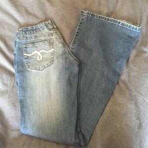 Denim - Super stretchy flare light wash jeans