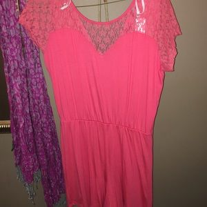 Pants - Cute coral romper!! Never worn with tag XL