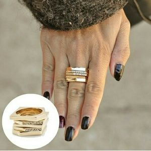 T&J Designs Jewelry - ⭐NEW! High Fashion Modern Stack Rings
