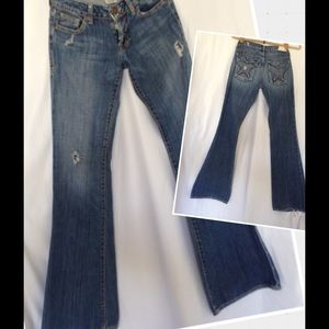 People's Liberation Denim - PEOPLE'S LIBERATION DESTROYED FLARE JEANS SIZE 24