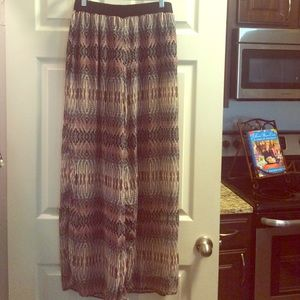 Soulmates Pants - REALLY CUTE sheer palazzo pants with shorts lining