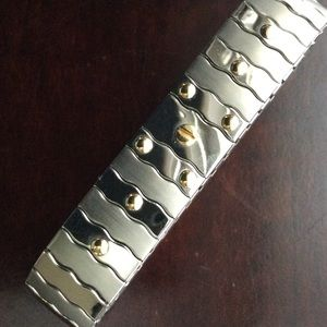 Zoppini Jewelry , Designer Zoppini Italian 18K Gold \u0026 Steel Bracelet