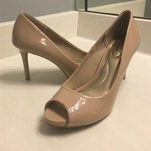 ae6ba4d7de5 Dexflex Comfort Shoes - Nude peep-toe heels