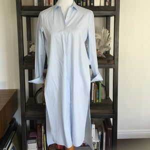 NWT Zara Blue High Low Dress Shirt