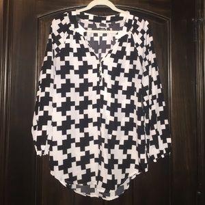 Geometric print blouse by MudPie